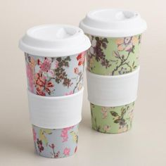One of my favorite discoveries at WorldMarket.com: Grace Ceramic Travel Not A Paper Cup Set of 2