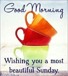 Good Morning. Wishing you a most beautiful Sunday!