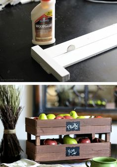 Add rustic storage to your kitchen with these DIY Stackable Slatted Fruit Crates, made with Elmer's® wood glue. They can store everything from produce to your kid's craft supplies. The possibilities are endless!