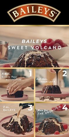 Take desserts to the next level this Christmas. Dress up any brownie with the addition of Baileys; a warmed brownie with chilled Bailey's over top is fast replacing the a la mode sensation. Get ready for an eruption of flavour.