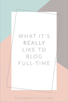 Ever wondered what it's REALLY like to blog full-time? Do full-time bloggers lay out by the pool all day? Do they roll out of bed at 11 AM? Well, sort of. Click through for a glimpse at my daily routine as a full time blogger! http://BlogBeautifully.com