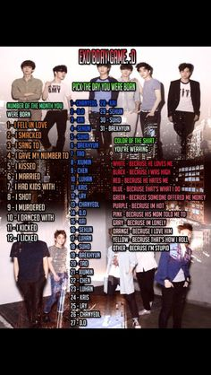 EXO birthday game!! I had kids with Chen cause I was high?? Hahaha