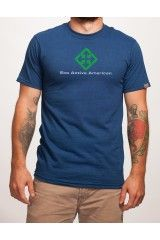 Blue Symbol Tee Shirt Environmentally Friendly Made In The USA