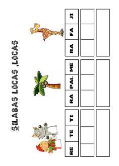 Actividades para imprimir Pon las sílabas en orden 2