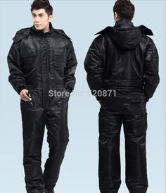 New arrival Free shipping Black Men's protective coverall cotton-padded jacket windproof rainproof clothing car-wash uniform