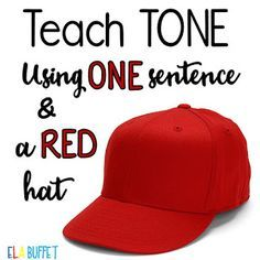 "Have tone and mood been stumbling blocks for your middle grade students? One of the most frequent questions I get from teachers is about how to teach tone. Now, I no longer have to reply, ""I'll be darned if I know!"" ;) Here's an awesome trick to teach kid"
