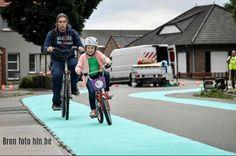 Dendermonde experimenteert met appelblauwzeegroene fietsstroken