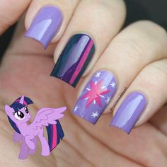 nice My Nail Art Journal: My Little Pony Nails Inspired