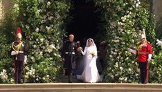 Harry looked delighted as he walked his new wife out of St George's Chapel to start their new life together