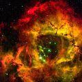 バラ星雲を拡大表示