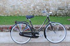 BICI GANNA MODELLO FIRENZE LUSSO R VIAGGIO DONNA  COLORI: GRIGIO GANNA - PISTACCHIO - NERO  PER ULTERIORI INFORMAZIONI SUL PRODOTTO:  http://www.ganna-retro.it/it/biciclette/donna_6_10.htm