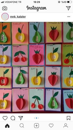 15 Different Fruits and Vegetables Craft Ideas For Kids With Images Paper Crafts For Kids, Preschool Crafts, Diy And Crafts, Arts And Crafts, Vegetable Crafts, Fruit Crafts, Fruit Of The Spirit, Fruit Art, Dollar Store Crafts
