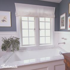 "Windows Discover Luxurious Bathroom Transformation in 48 Hours Who says that you have to knock down a wall or two to have the bathroom youve always wanted? Change it from ""meh"" to amazing in just 48 hours. Interior Design Living Room, Living Room Designs, Diy Home Decor, Bedroom Decor, House, Wall, Amazing, Basement Stairs, Bathrooms Decor"