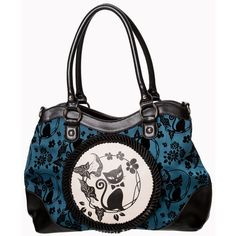 Call of the Phoenix Cat Cameo Bag by Banned GREEN ($40) ❤ liked on Polyvore featuring bags, handbags, cat purse, cat print bag, pink purse, green purse and flower bag