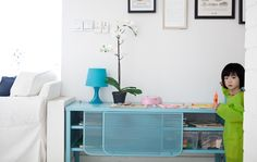Hellen turned a sideboard into a fun play station for her kids