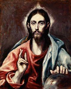 (Dominikos Theotokopulos) El Greco - El Redentor del mundo