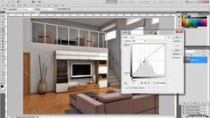 Photoshop - interior render enchancement