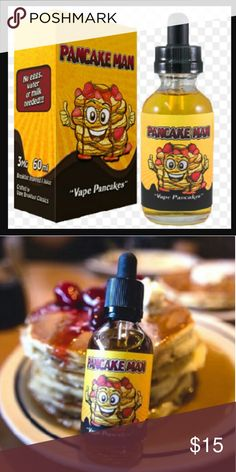60ml Pancake Man e-juice 3mg nic 60ml Pancake Man e-juice brand new in box The?Pancake Man Vape Breakfast Classics E-Juice?is exactly what it sounds like, fluffy pancakes with butter, topped off with freshly picked strawberries and just the right amount of whipped cream with a slight drizzle of maple syrup. This liquid comes in a 60mL bottle and features a max VG?mix to provide the most vapor possible while still creating a high quality flavor? 3mg nic Vape Breakfast Classic E-Juice Other