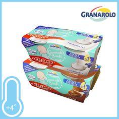 Delicato yogurt per i vostri bambini. Gusti Fior di latte e Cacao. Conf. 2xgr.100 a solo € 0,59!!!