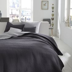 Image Aima Quilted Throwover with Braid Trim La Redoute Interieurs