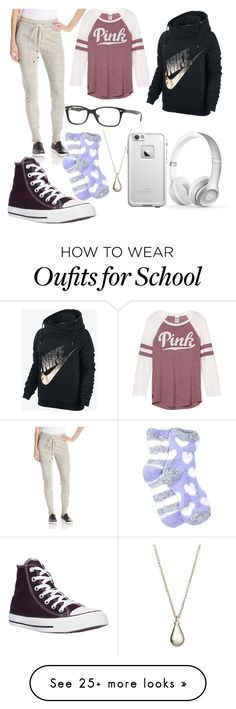 """""""Back to school"""" by hailsbug on Polyvore featuring Beats by Dr. Dre, Vince, NIKE, Converse, Nordstrom Rack, Ray-Ban, Arena CPH and LifeProof"""