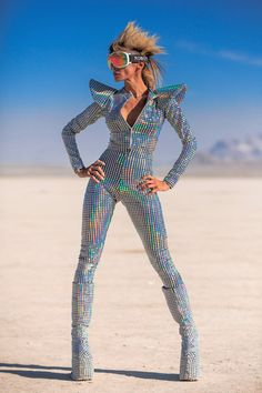 Looking for a better way to hog all the attention at the club? This ultimate disco fever catsuit is your answer. Center of attention achieved!