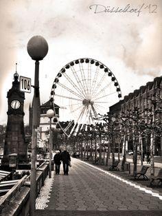 Düsseldorf city.