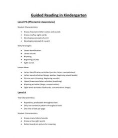 Note to self: REVISIT  Guided Reading in Kindergarten