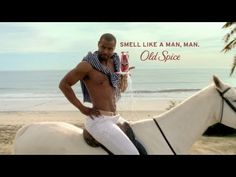 """mmmmm I like me some old spice man. The """"im on a horse"""" one lol.  Old Spice Commercial Compilation {Great Commercials} - YouTube"""