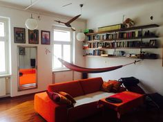 the living room, hammock for the lazy hours