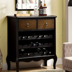 @Overstock - Antique Black Veneer 37-inch Traditional Wine Chest - Store your favorite bottles of wine in style with this traditional wine chest, featuring a sturdy frame construction. This piece also offers an antique black finish, and is able to hold up to 18 bottles of wine.  http://www.overstock.com/Home-Garden/Antique-Black-Veneer-37-inch-Traditional-Wine-Chest/8280785/product.html?CID=214117 $371.45