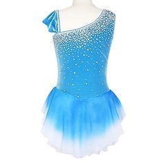 Oblique Shoulder Type Irregular Edge Sleeveless Ice Skating Dress – CAD $ 167.85