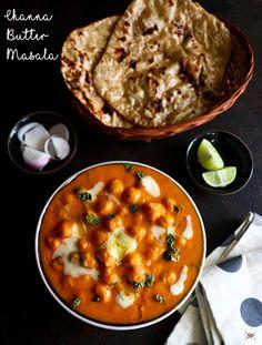 Chana butter masala recipe, Channa makhani recipe Channa Recipe, Sabzi Recipe, Today's Recipe, Chickpea Recipes, Vegetarian Recipes, Naan Roti, Butter Masala Recipe, Channa Masala, Punjabi Cuisine