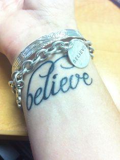 wrist tattoo believe strength - Google Search