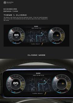 """Auf @Behance habe ich dieses Projekt gefunden: """"Mercedes-Benz Dashboard Design"""" https://www.behance.net/gallery/37678047/Mercedes-Benz-Dashboard-Design"""