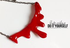 As promised I have my first Halloween post. A DIY tutorial on how to make a dripping blood necklace by using a hot glue gun. I already ...