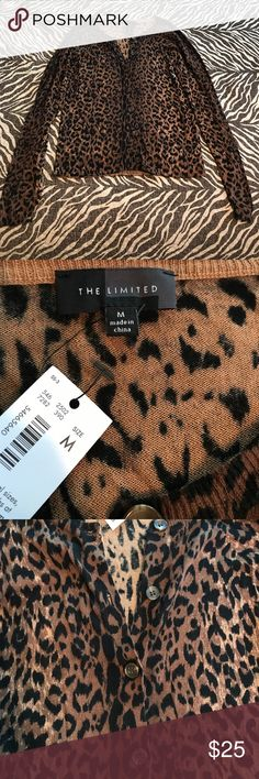 The Limited Leopard cardigan The Limited Leopard cardigan size Medium Sweaters Cardigans