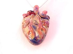 I love you COLORFUL Anatomical Heart wearable by DeenieWallaceArt