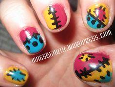 Jack and Sally nails #nightmarebeforechristmas #halloween #NMBC #nails #nailart #halloweennails