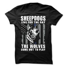 SHEEPDOGS Thin Blue Line T-Shirt. Click to order your shirt here!