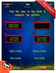 Third Grade Math Apps - Time - Elapsed time Worksheet #pinspiration