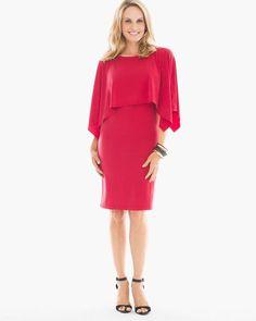 Chico's Women's Convertible Short Dress, Renaissance Red, Size: 3 (16/18 XL)