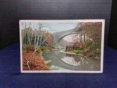 Post Card Cabin John Bridge, Washington, D.C. Pub: Phostint Gard. 1915 STAMP