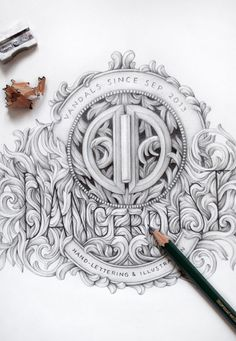 30 Beautiful Sketches for Inspiration - shown is DANGERDUST