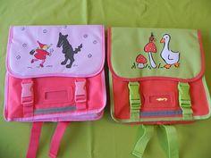 Ref CDP052 Sac d'école, deux modèles. 10€ au choix (violet/rose ou vert/rouge)