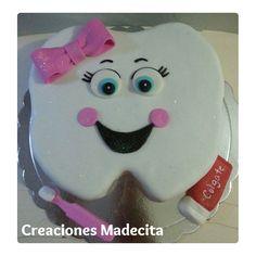 Torta Muela #muela #diente #odontologo #cake #torta #creacionesmadecita