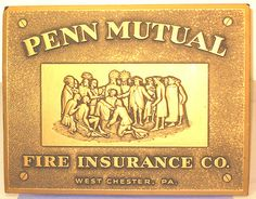 Vintage Penn Mutual Fire Insurance Embossed Indian West Chester,Pa.Sign Plaque. | ebay