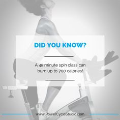 Did you know that a 45 minute spin class can burn up to 700 calories! #findyourpower
