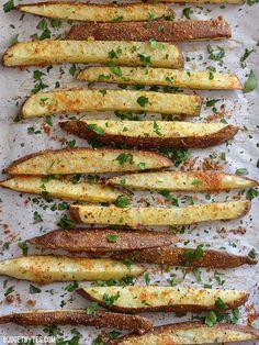 Thick Cut Garlic Parmesan Oven Fries - BudgetBytes.com