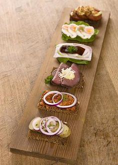 Selection of sandwiches.